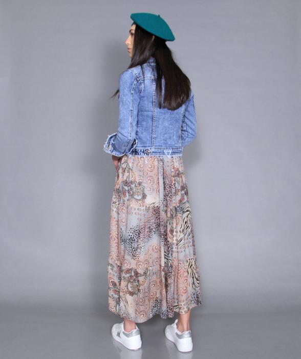 Geaca jeans si rochie 3
