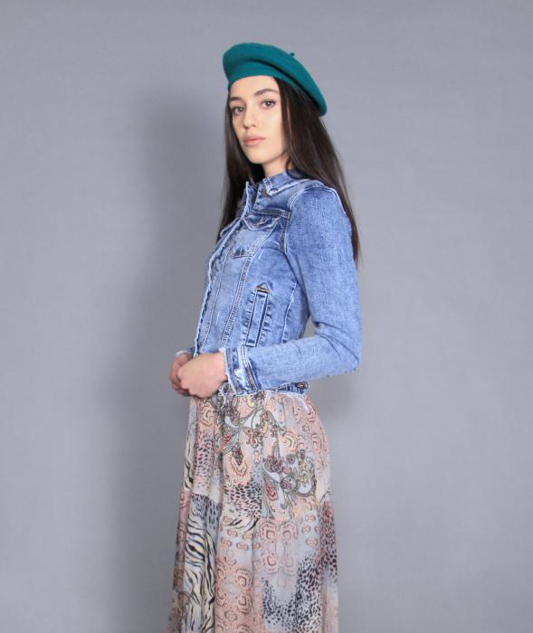 Geaca jeans si rochie 5