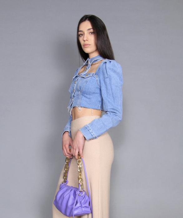 Jacheta jeans cu pantaloni 4
