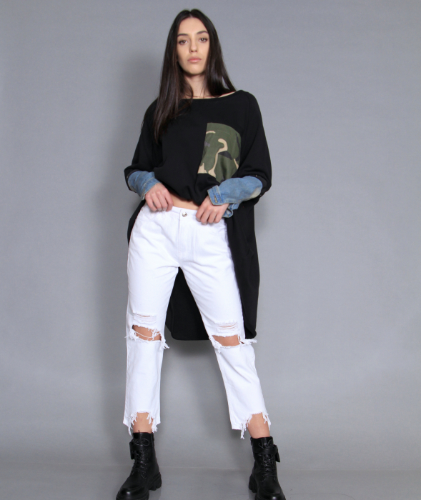 Jacheta, bluza si jeans. [6]