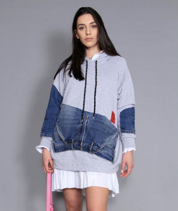 Bluza cu material jeans. 4