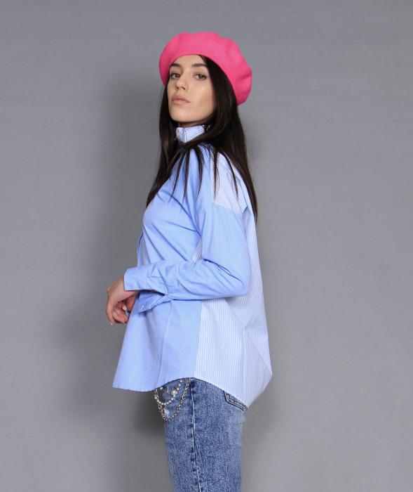 Jacheta piele ecologica, camasa si jeans. 5