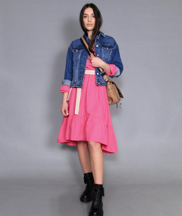 Jacheta jeans si rochie lunga. 0