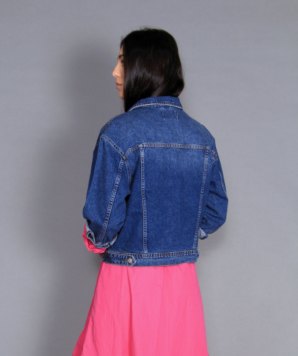 Jacheta jeans si rochie lunga. 3