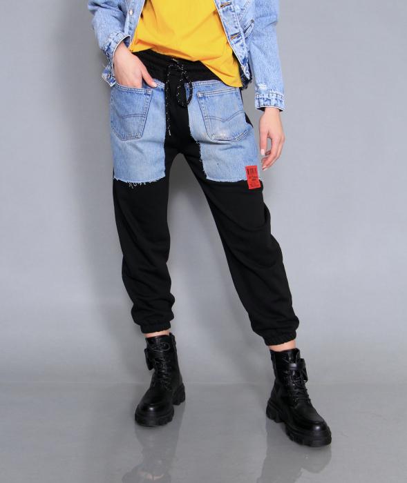 Jacheta din denim, pantaloni si camasa. [5]