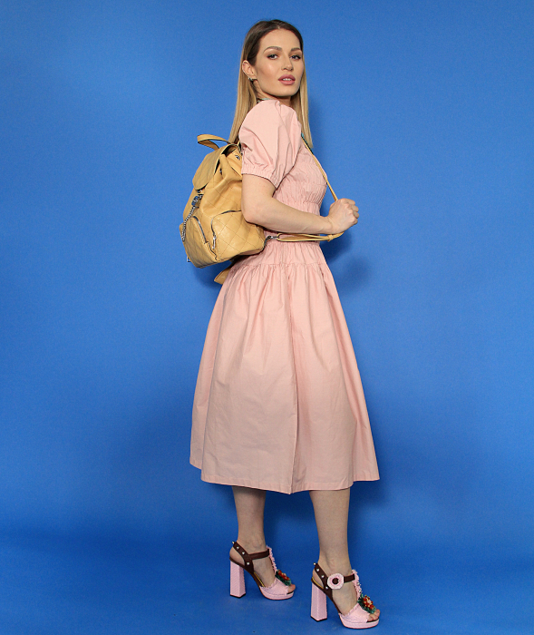Rochie lunga cu elastic talie. [3]