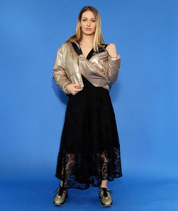 Jacheta fas cu accesoriu borseta, rochie din dantela. [1]