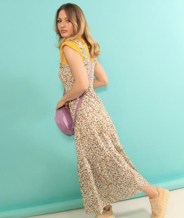 Rochie lunga cu bretele si geanta in forma de pisica. [2]