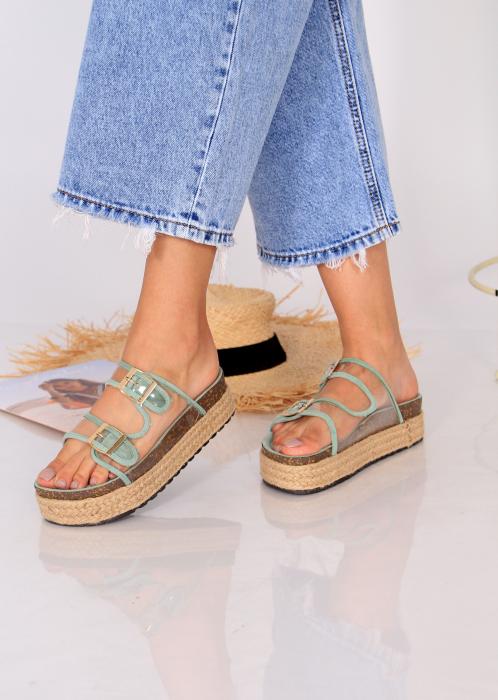 Papuci platforma inalta 4