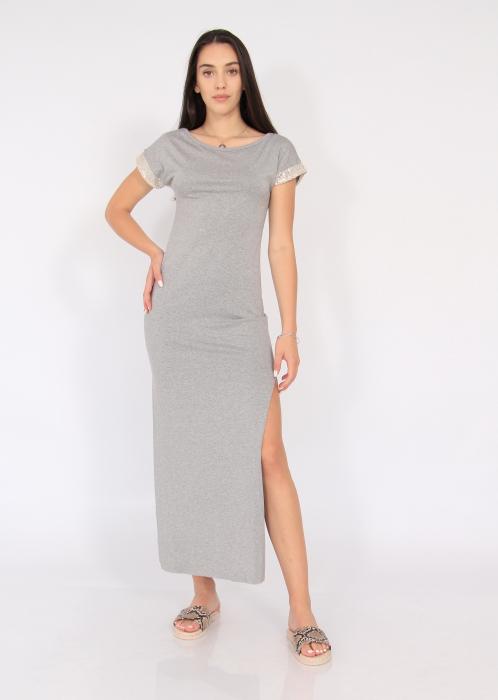 Rochie lunga cu crapaturi laterale 0