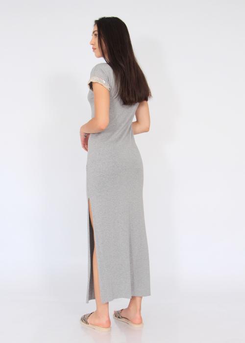 Rochie lunga cu crapaturi laterale 2