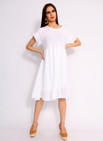 Rochie lunga din broderie0