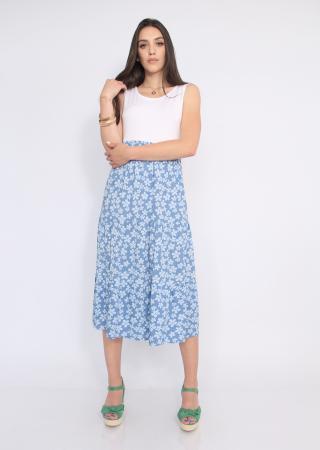 Rochie blue flowers0