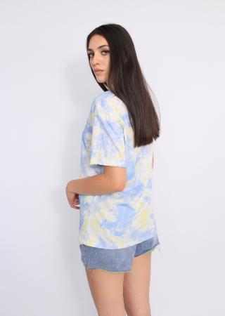 Tricou imprimeu degrade bleu.2