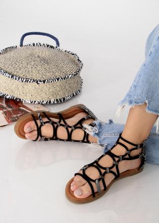 Sandale joase tip gladiator animal print1