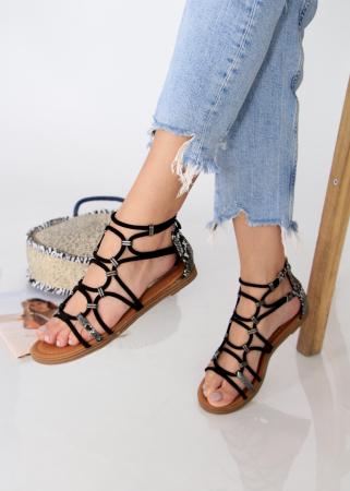 Sandale joase tip gladiator animal print2