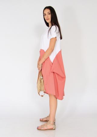 Rochie in doua culori.1
