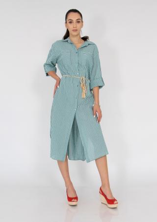 Rochie lunga din bumbac tip camasa0