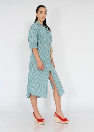 Rochie lunga din bumbac tip camasa2