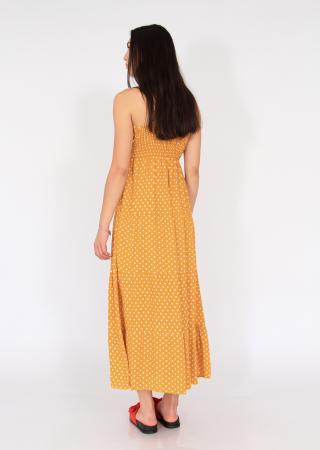 Rochie lunga cu volane si buline2