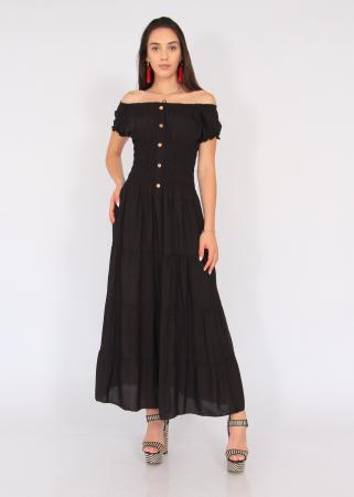 Rochie lunga elastic talie0