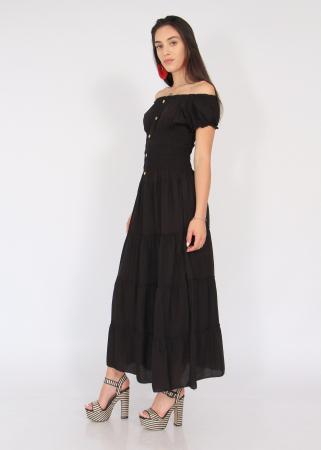 Rochie lunga elastic talie1