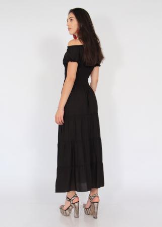 Rochie lunga elastic talie2