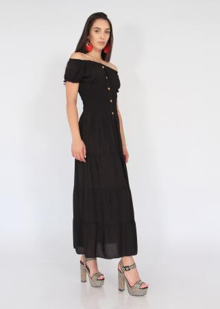Rochie lunga elastic talie3