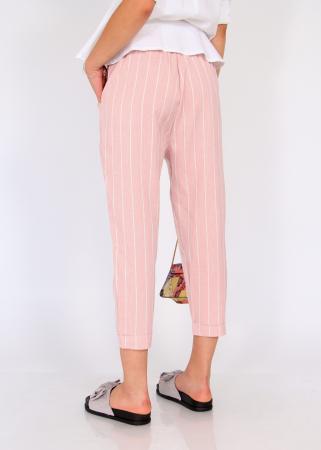 Pantaloni cu elastic si siret talie2