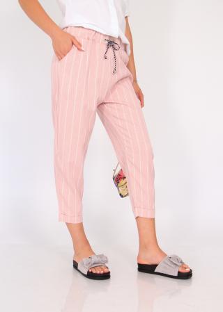 Pantaloni cu elastic si siret talie3