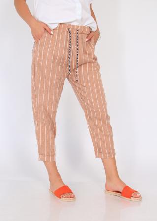 Pantaloni cu elastic si siret talie5