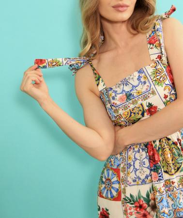 Rochie lunga imprimeu floral. [5]