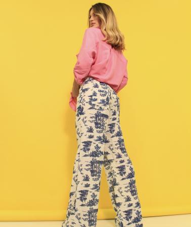 Pantaloni si camasa din in. [7]