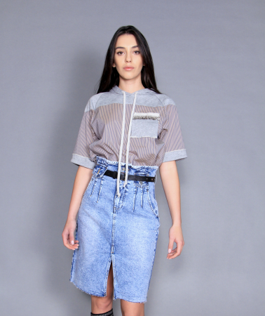 Fusta jeans si bluza4