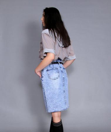 Fusta jeans si bluza7