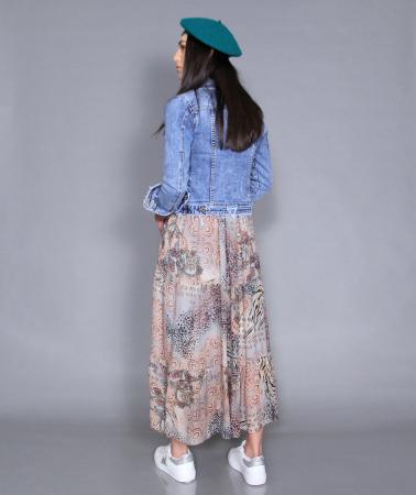 Geaca jeans si rochie3