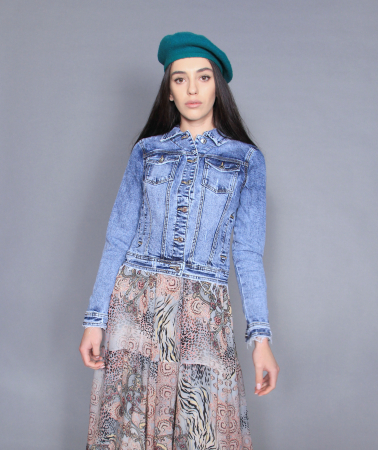 Geaca jeans si rochie4