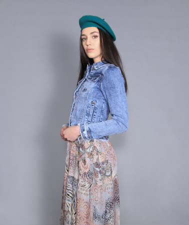 Geaca jeans si rochie5