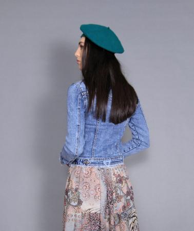 Geaca jeans si rochie6