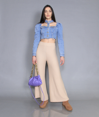 Jacheta jeans cu pantaloni0