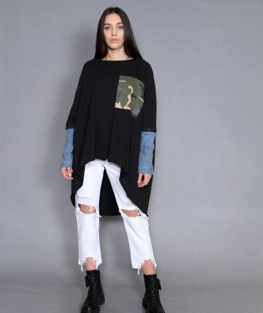 Jacheta, bluza si jeans. [3]
