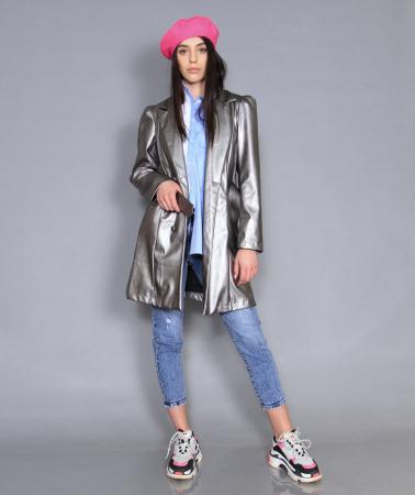 Jacheta piele ecologica, camasa si jeans.0