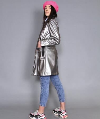 Jacheta piele ecologica, camasa si jeans.1