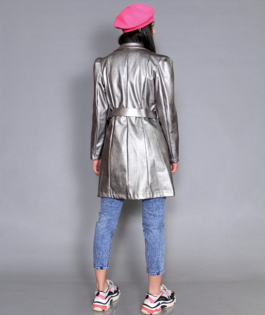 Jacheta piele ecologica, camasa si jeans.2