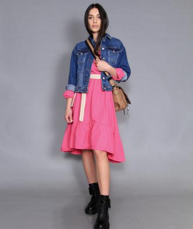 Jacheta jeans si rochie lunga.0