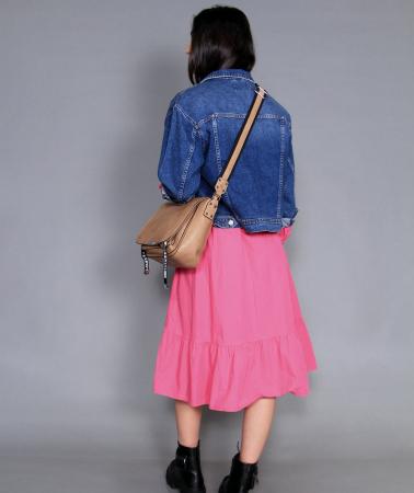 Jacheta jeans si rochie lunga.1