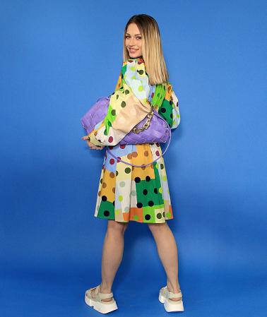 Rochie midi cu imprimeu colorat. [4]