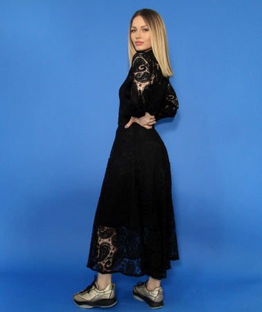 Jacheta fas cu accesoriu borseta, rochie din dantela. [4]