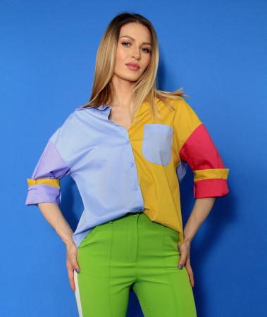 Camasa culori diferite si pantaloni lungi.0