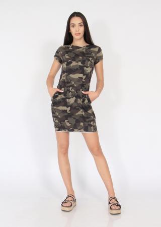 Rochie bumbac nefinisata print army4